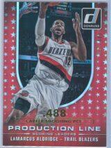 LaMarcus Aldridge Panini Donruss Basketball 2014 15 Production Line Gold Career Stat 037488 1