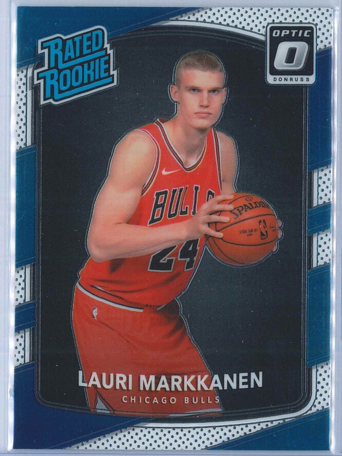 Lauri Markkanen Panini Donruss Optic Basketball 2017-18 Rated Rookie