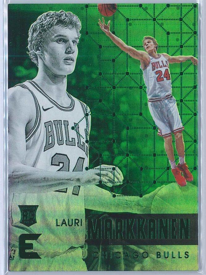 Lauri Markkanen Panini Essentials Basketball 2017-18 Base Green  RC