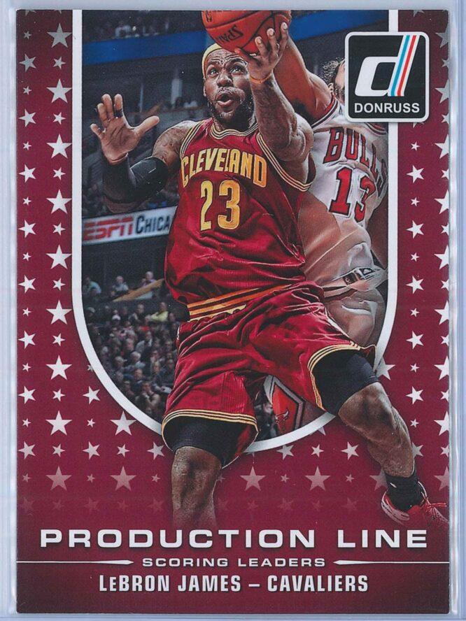 LeBron James Panini Donruss Basketball 2014-15 Production Line