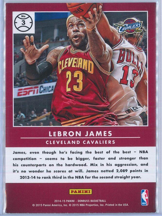 LeBron James Panini Donruss Basketball 2014 15 Production Line 2