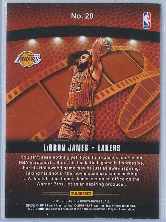 LeBron James Panini NBA Hoops Basketball 2019 20 Lights Camera Action 2