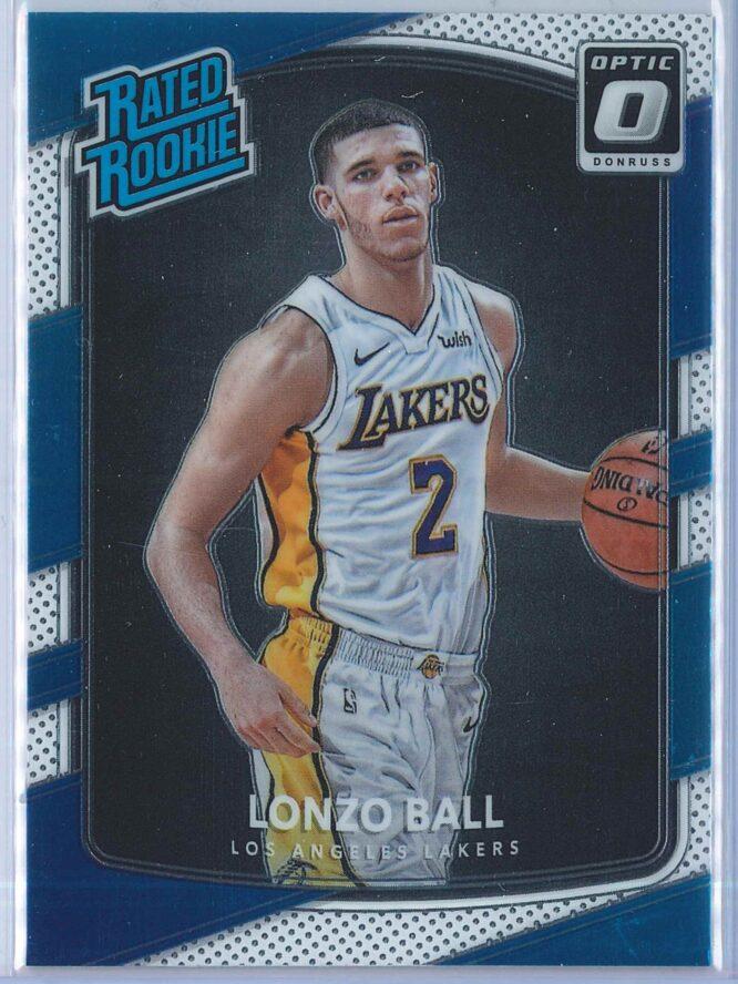 Lonzo Ball Panini Donruss Optic Basketball 2017-18 Rated Rookie