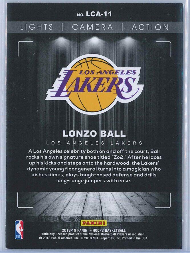 Lonzo Ball Panini NBA Hoops Basketball 2018 19 Lights Camera Action Winter Parallel 2