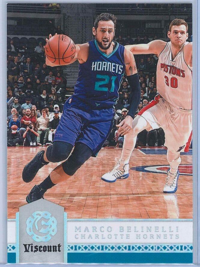 Marco Belinelli Panini Excalibur Basketball 2016-17 Base Viscount Parallel