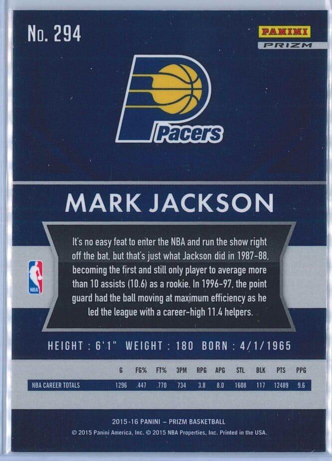 Mark Jackson Panini Prizm Basketball 2015 16 Base Red White Blue Parallel 2