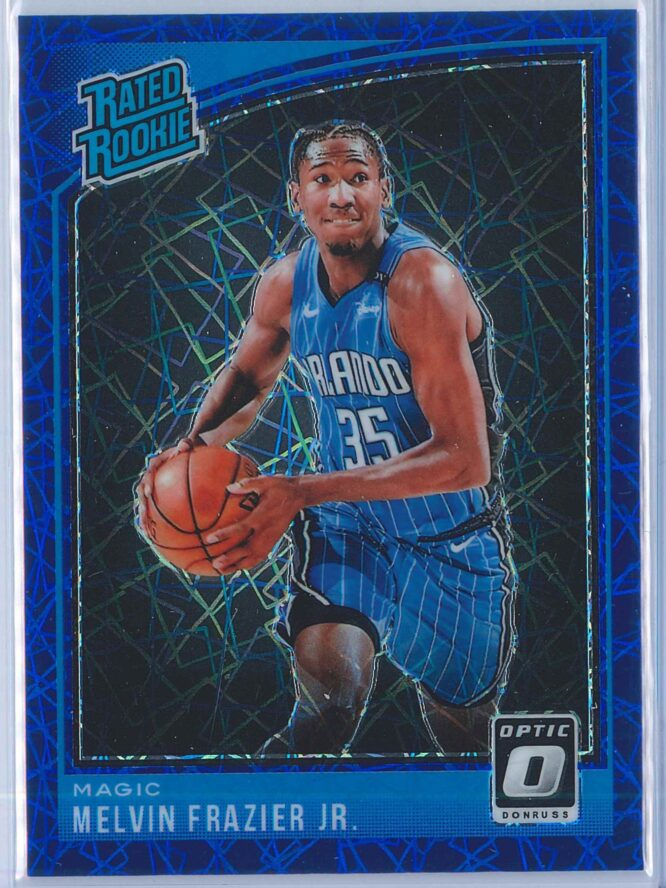 Melvin Frazier Jr. Panini Donruss Optic Basketball 2018-19 Rated Rookie Blue Velocity