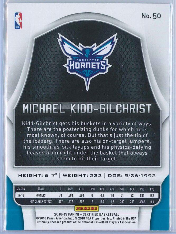 Michael Kidd Gilchrist Panini Certified Basketball 2018 19 Base 2