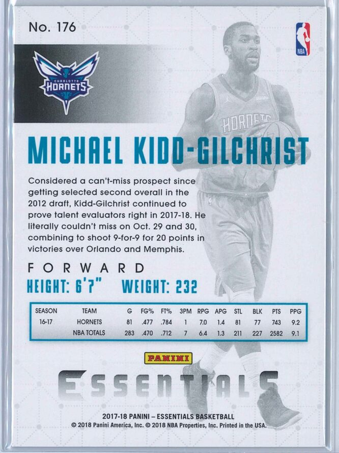 Michael Kidd Gilchrist Panini Essentials Basketball 2017 18 Base Green 2