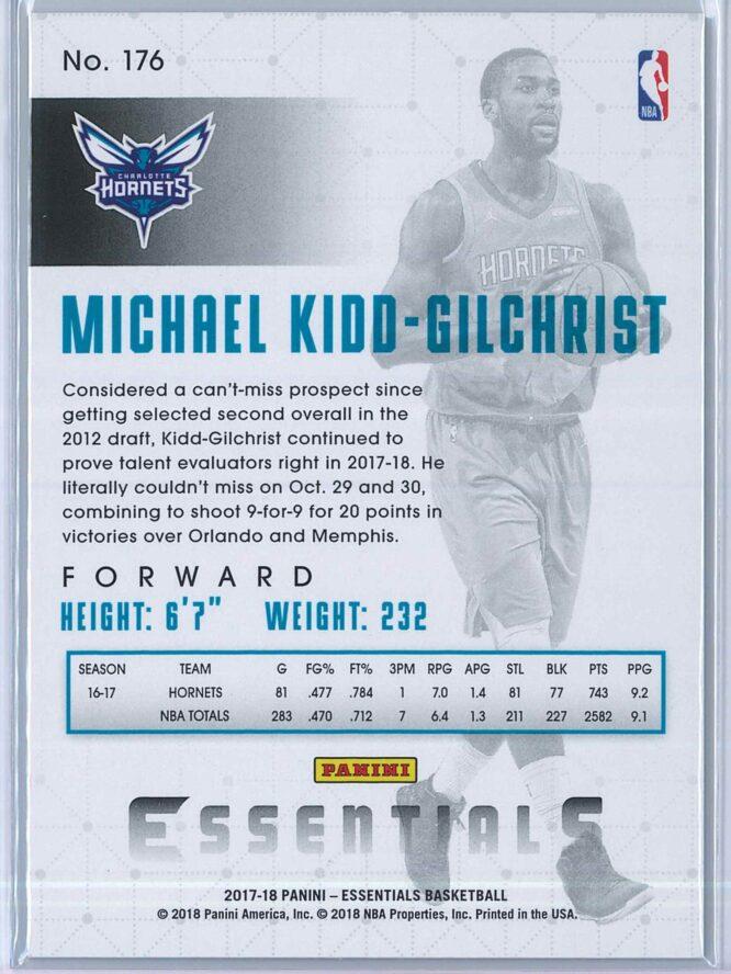 Michael Kidd Gilchrist Panini Essentials Basketball 2017 18 Base Spiral 2