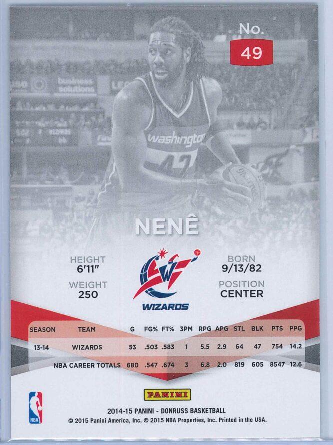 Nene Panini Donruss Basketball 2014 15 Elite 2