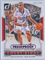 Nicolas Batum Panini Donruss Basketball 2014 15 Court Kings Purple Press Proof 120199 1