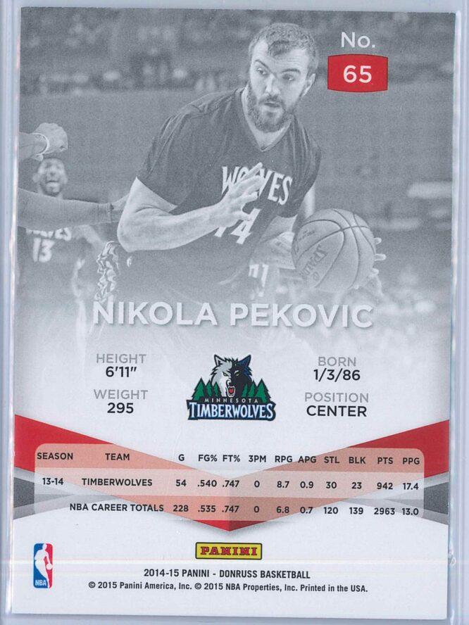 Nikola Pekovic Panini Donruss Basketball 2014 15 Elite 2