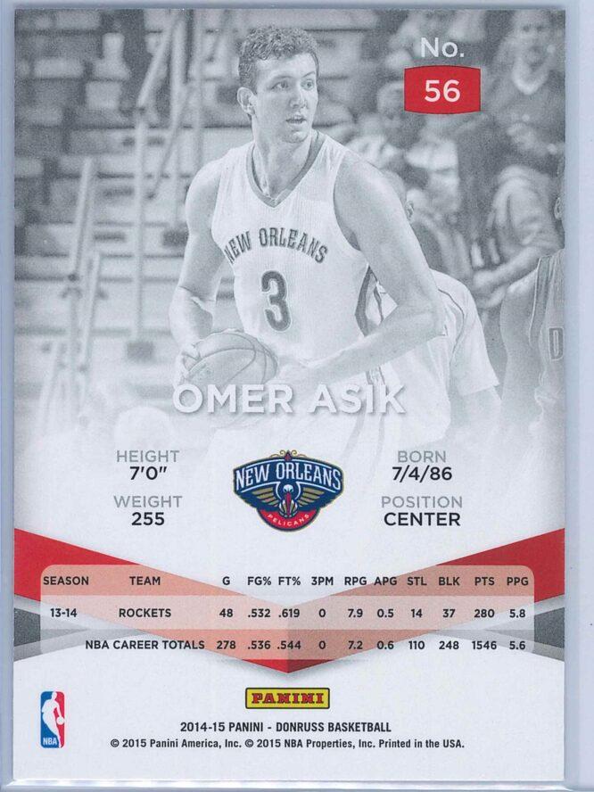 Omer Asik Panini Donruss Basketball 2014 15 Elite 2