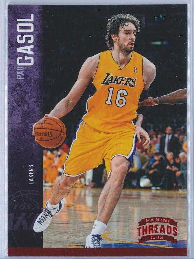 Pau Gasol Panini Threads Basketball 2012-13 Base Red Century Proof