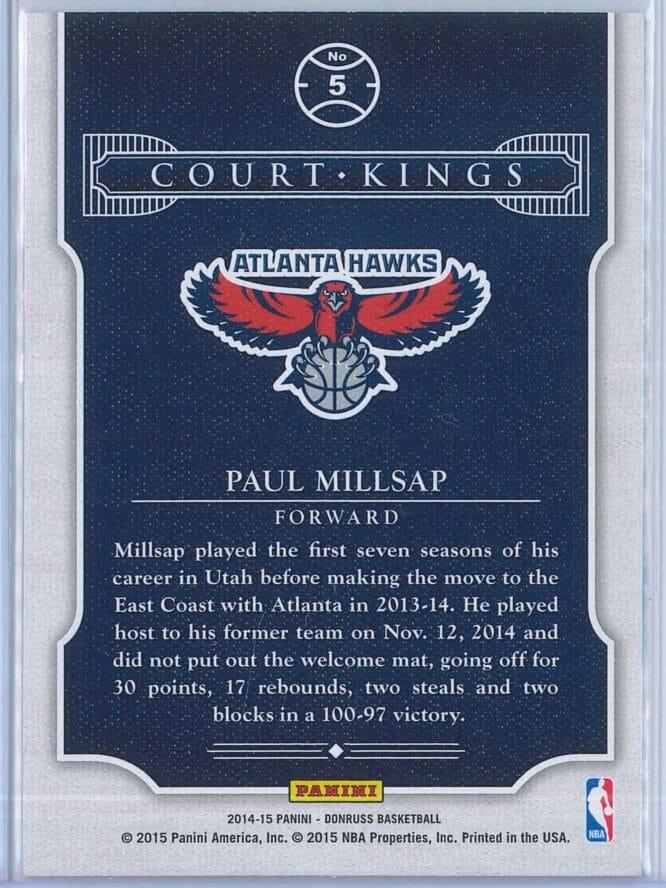 Paul Millsap Panini Donruss Basketball 2014 15 Court Kings 2