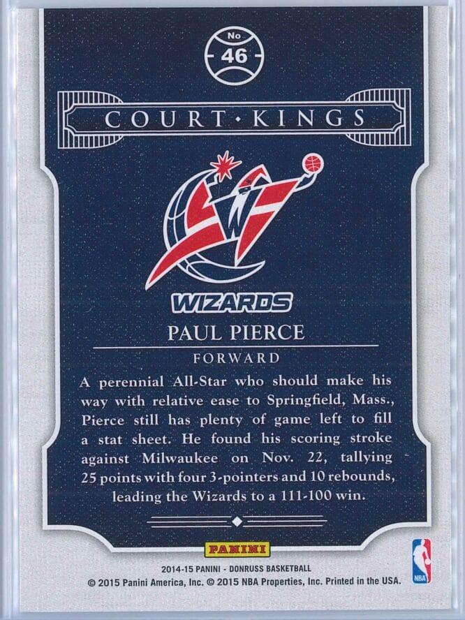 Paul Pierce Panini Donruss Basketball 2014 15 Court Kings 2