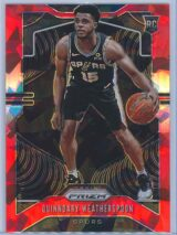 Quinndary Weatherspoon Panini Prizm Basketball 2019-20 Base Red Ice Parallel  RC