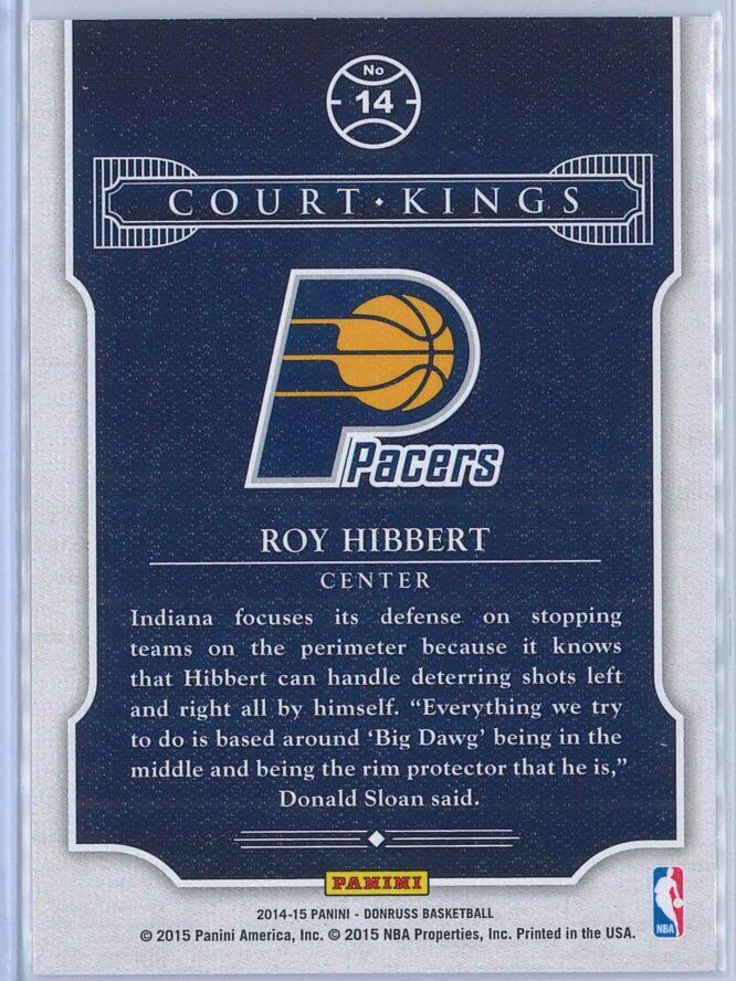Roy Hibbert Panini Donruss Basketball 2014 15 Court Kings 2
