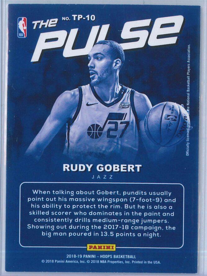 Rudy Gobert Panini NBA Hoops Basketball 2018 19 The Pulse Winter Parallel 2