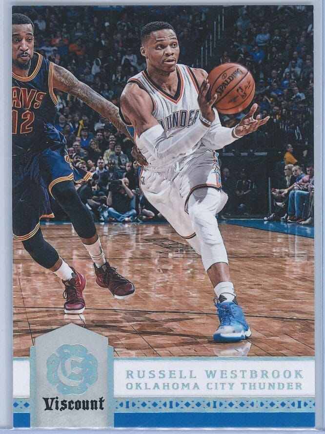 Russell Westbrook Panini Excalibur Basketball 2016-17 Base Viscount Parallel