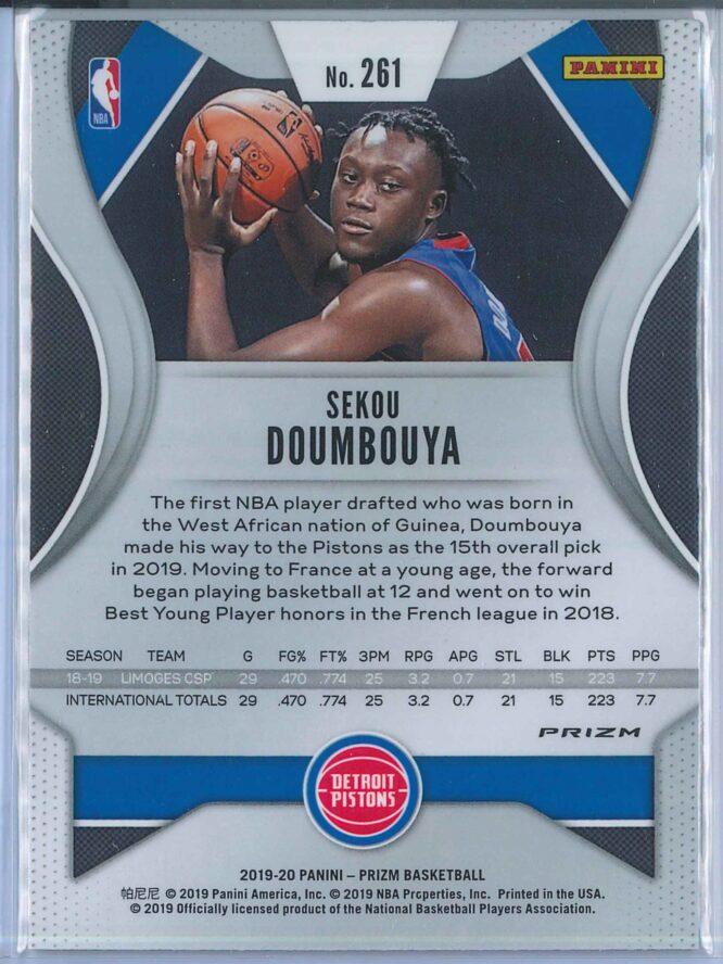 Sekou Doumbouya Panini Prizm Basketball 2019 20 Base Green Parallel RC 2