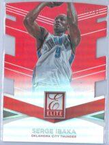 Serge Ibaka Panini Donruss Basketball 2014 15 Elite Jersey Number Die Cuts 7791 1