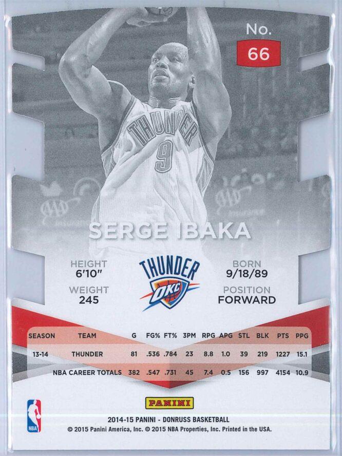 Serge Ibaka Panini Donruss Basketball 2014 15 Elite Jersey Number Die Cuts 7791 2