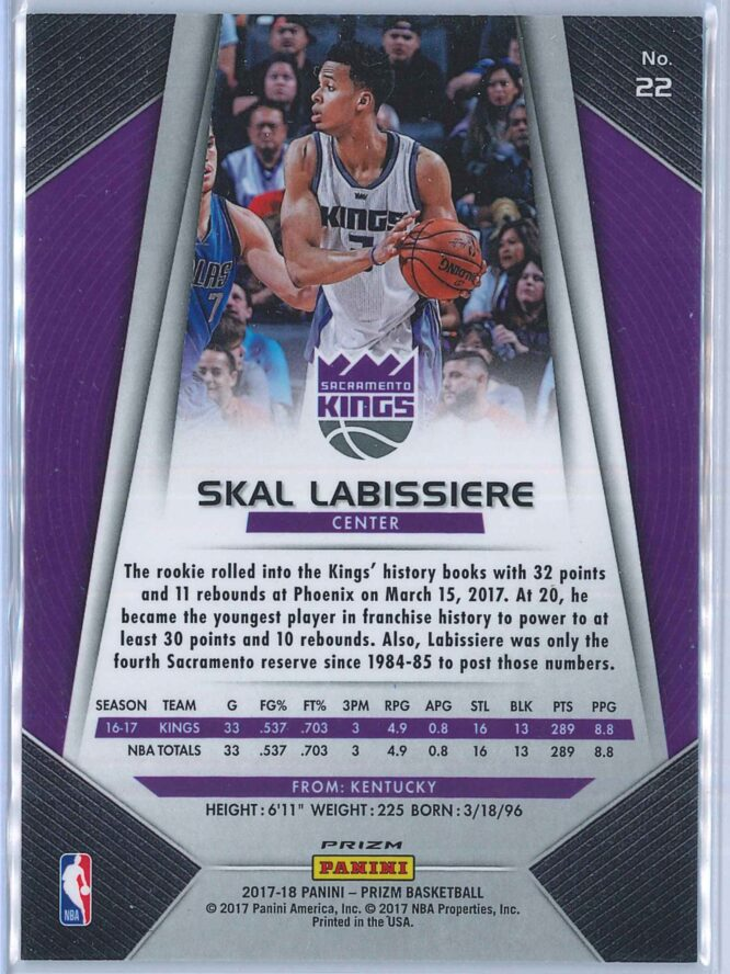 Skal Labissiere Panini Prizm Basketball 2017 18 Base Red White Blue Parallel 2
