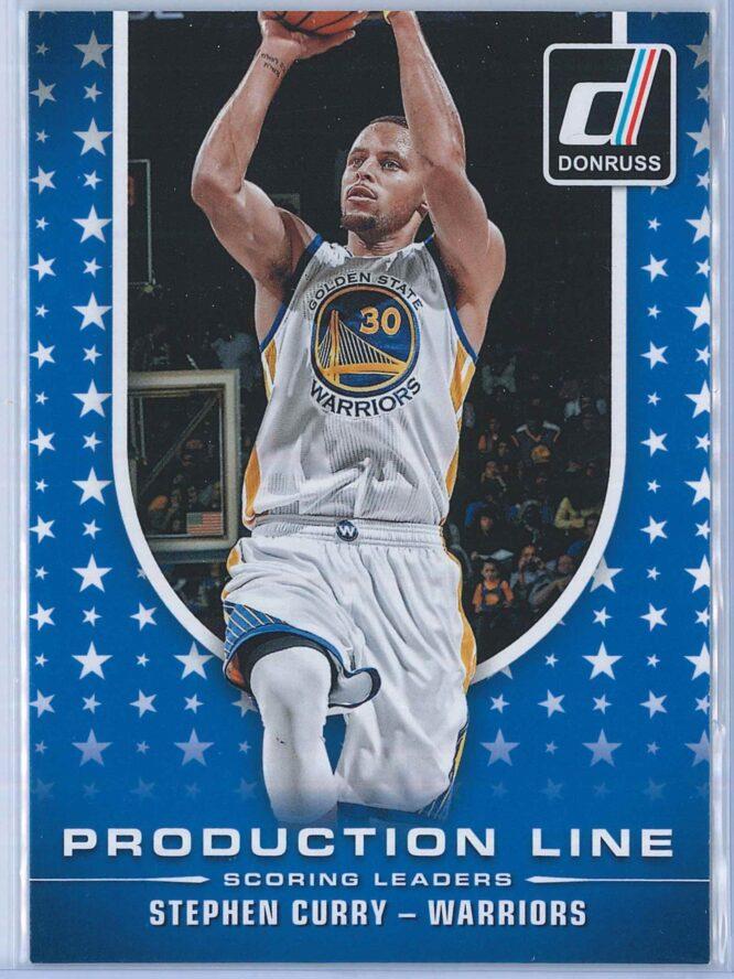 Stephen Curry Panini Donruss Basketball 2014-15 Production Line