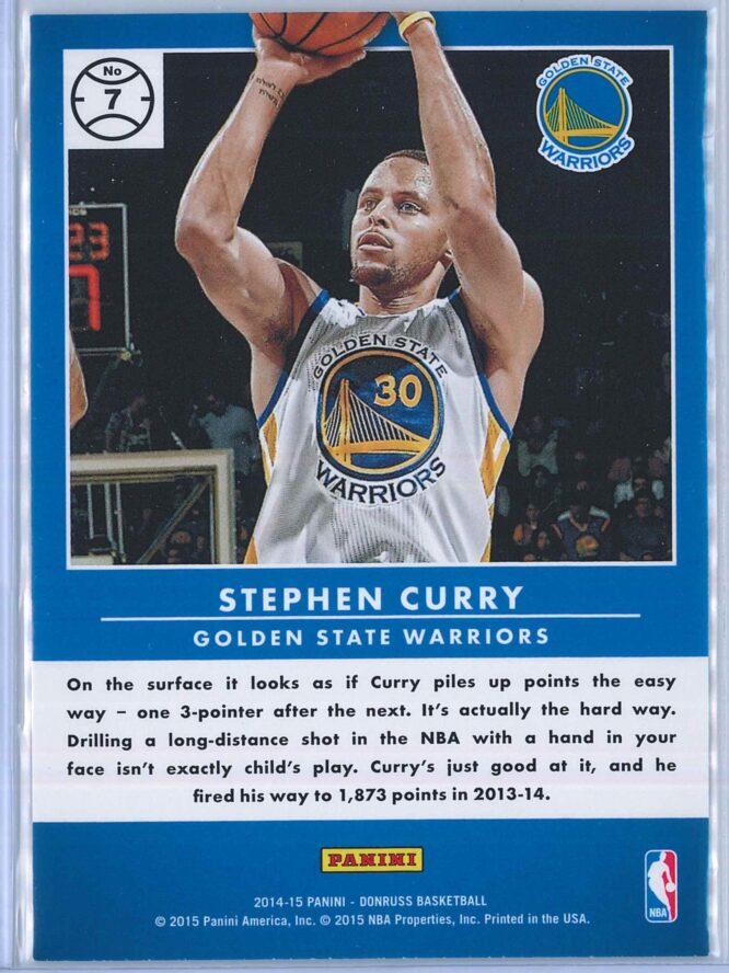 Stephen Curry Panini Donruss Basketball 2014 15 Production Line 2