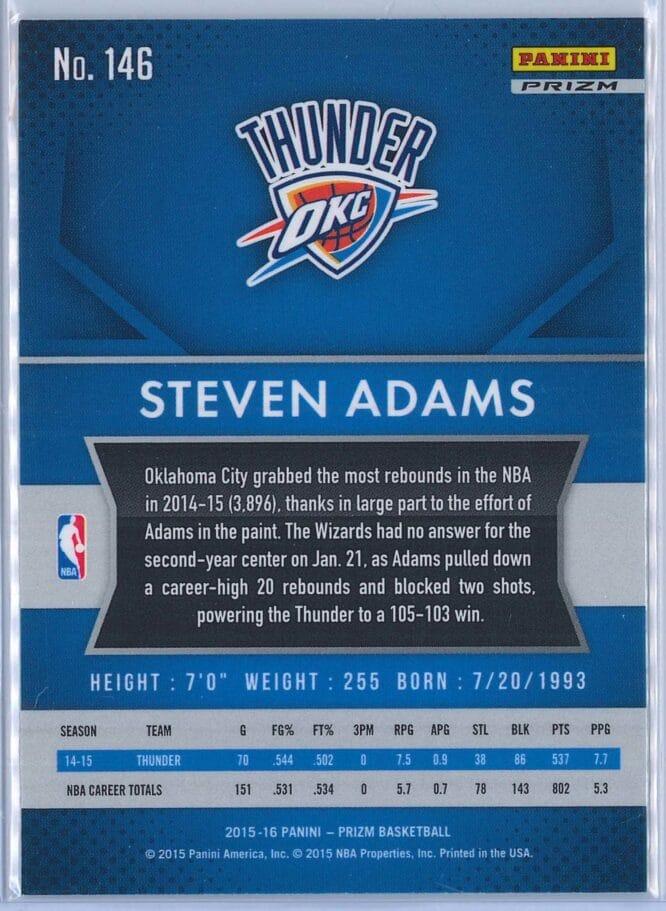Steven Adams Panini Prizm Basketball 2015 16 Base Red White Blue Parallel 2