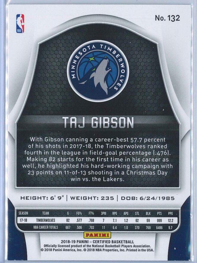 Taj Gibson Panini Certified Basketball 2018 19 Base 2