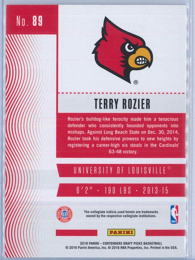 Terry Rozier Panini Contenders Draft Picks Basketball 2016 17 Base Season Ticket 2