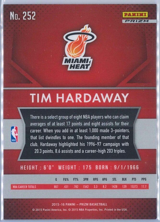Tim Hardaway Panini Prizm Basketball 2015 16 Base Red White Blue Parallel 2