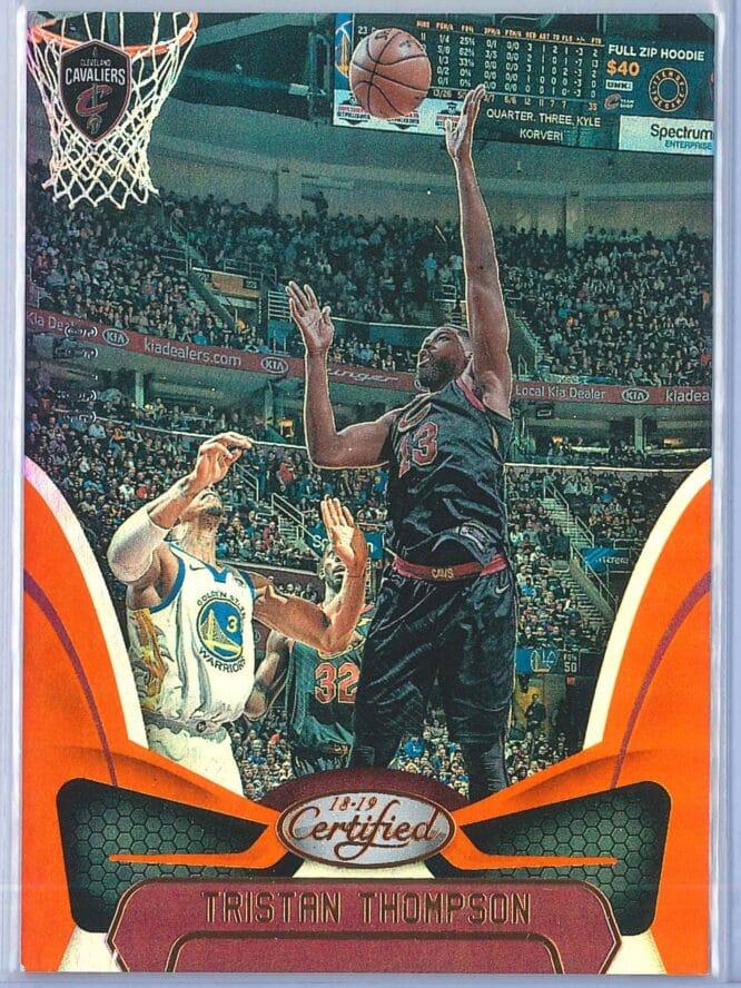 Tristan Thompson Panini Certified Basketball 2018 19 Base Orange Mirror 3999 1