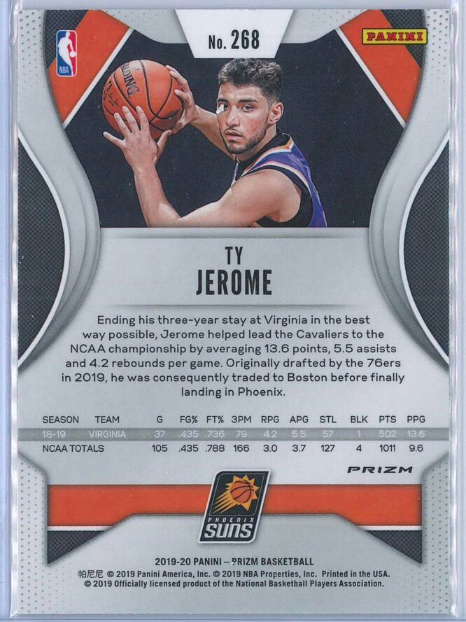 Ty Jerome Panini Prizm Basketball 2019 20 Base Red Ice Parallel RC 2