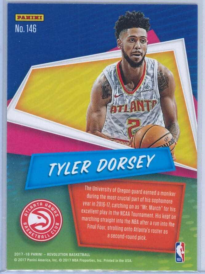 Tyler Dorsey Panini Revolution Basketball 2017 18 Base Chinese New Year Parallel RC 2