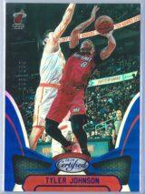 Tyler Johnson Panini Certified Basketball 2018 19 Base Blue Mirror 196199 1