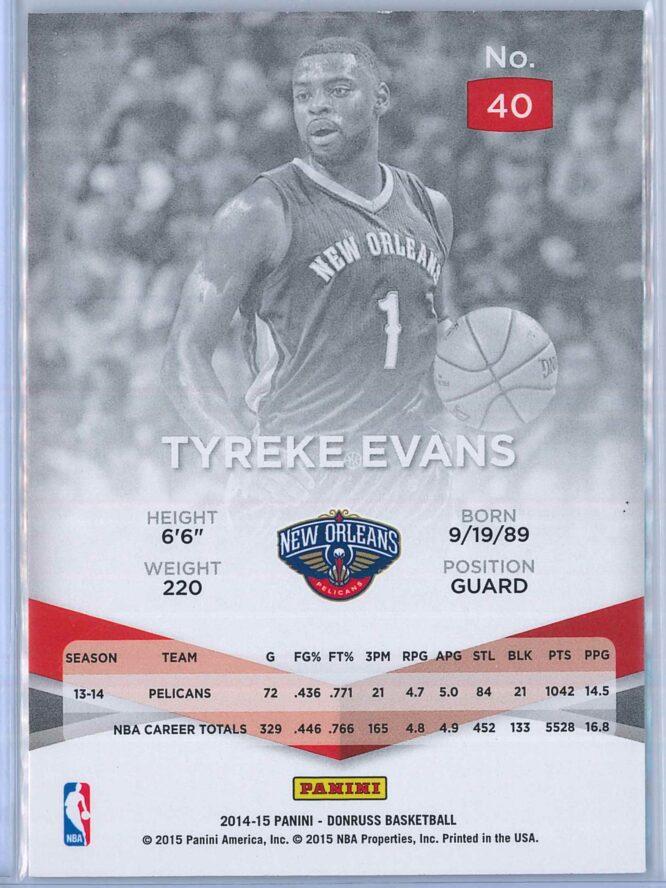 Tyreke Evans Panini Donruss Basketball 2014 15 Elite 2