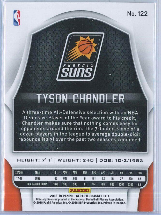 Tyson Chandler Panini Certified Basketball 2018 19 Base 2