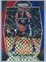 Vince Carter Panini Prizm Basketball 2017-18 Base Red White Blue Parallel