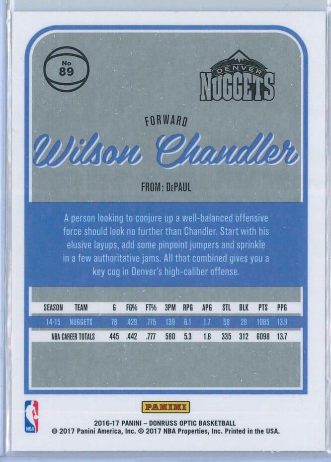 Wilson Chandler Panini Donruss Optic Basketball 2016 17 Base 2