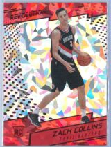 Zach Collins Panini Revolution Basketball 2017-18 Base Chinese New Year Parallel  RC