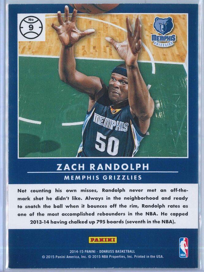 Zach Randolph Panini Donruss Basketball 2014 15 Production Line 2