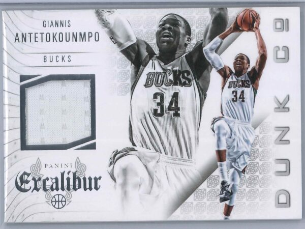 Giannis Antetokounmpo Panini Excalibur 2014 15 Dunk Co Patch 2nd Year 1 scaled