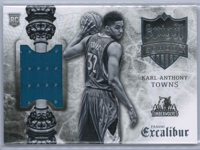 Karl Anthony Towns Panini Excalibur 2015 16 Knight School RC Patch 1 scaled
