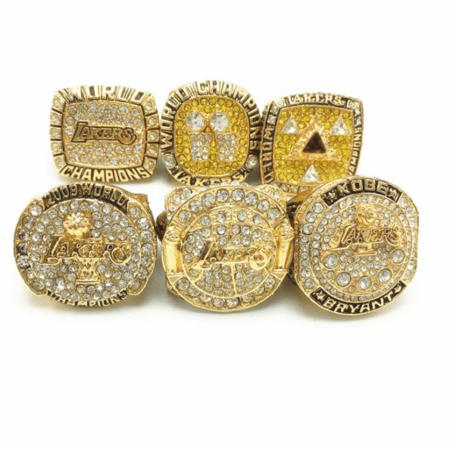 Kobe Bryant Mamba Los Angeles Lakers Championship 6 Rings Set Wooden Box 2