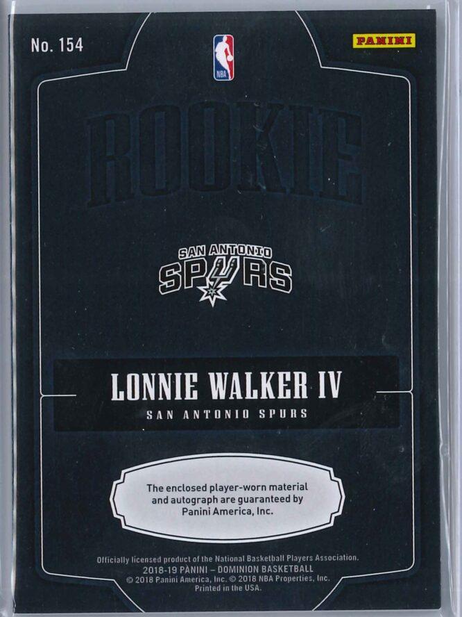 Lonnie Walker IV Panini Dominion 2018 19 RPA Silver Holo 1215 2 scaled
