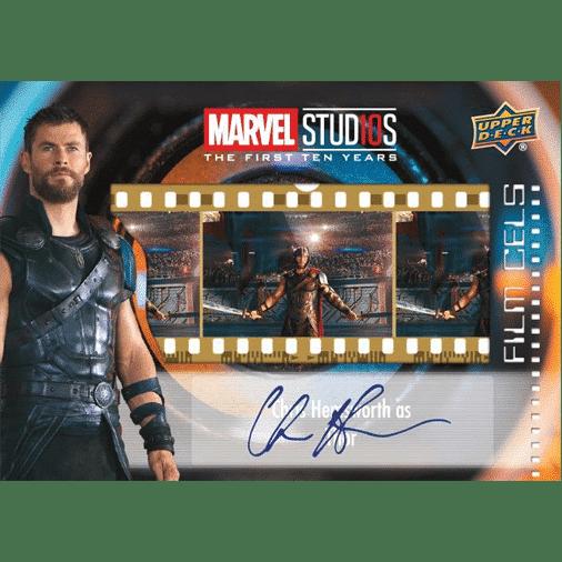 Upper Deck Marvel Studios First Ten Years Film Cel Autograph